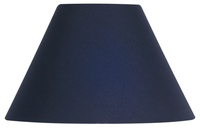 Oaks navy 12quot cotton coolie lamp shade s501 12 na oaks for Floor lamp with navy blue shade