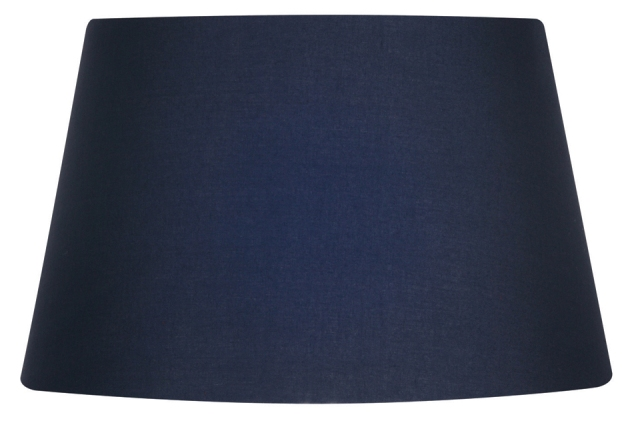 Oaks Navy 16 Cotton Drum Lampshade