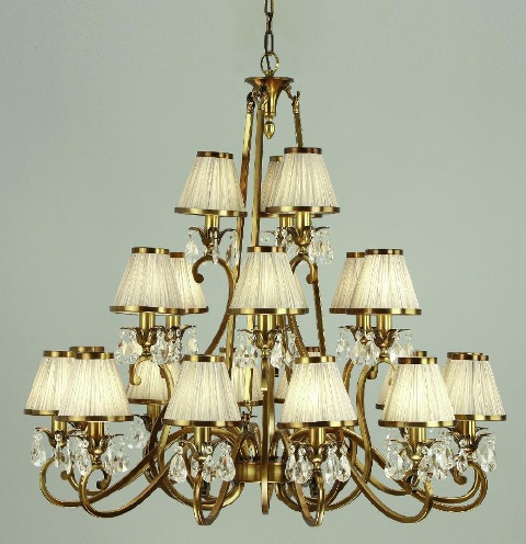 silk with pale champagne medium glass candle chandelier raphael shades droplets gold