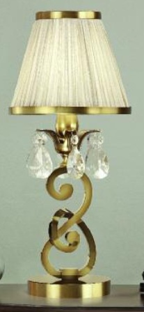Oksana Antique Brass Mini Table Lamp with Beige Shade - Interiors 1900