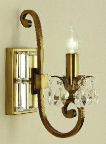 Oksana Antique Brass Single Wall Light - Interiors 1900