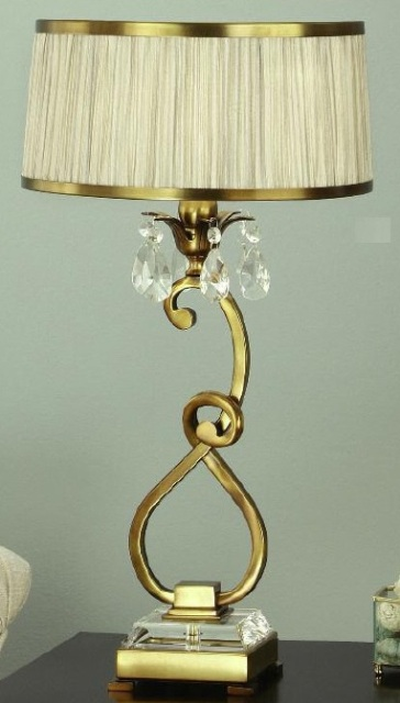 Interiors 1900 Oksana 63523 Antique Brass Table Lamp With Beige Shade | Luxury Lighting