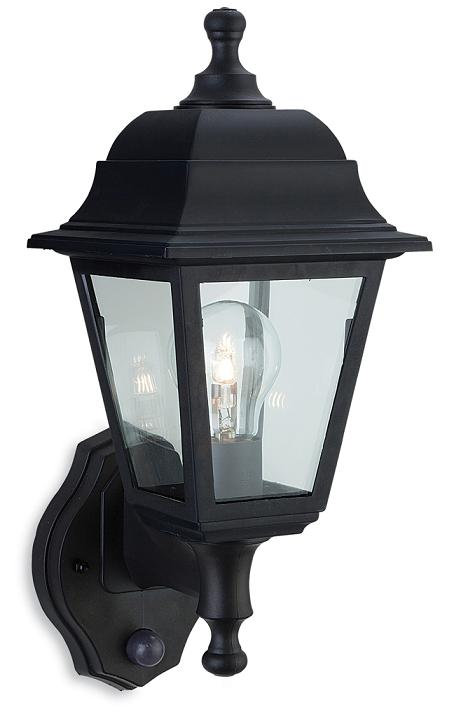 Firstlight oslo security wall lantern with pir 8400bk oslo security lantern with pir firstlight lighting mozeypictures Choice Image
