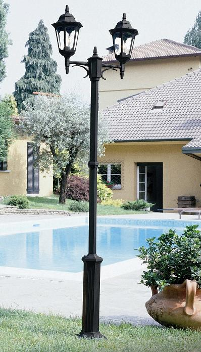Elstead Parish Twin Lamp Post | PR8 BLK | Elstead Lighting | Luxury Lighting