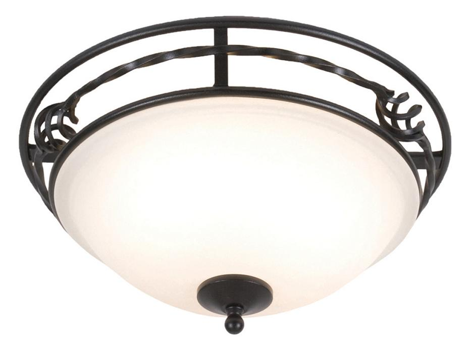 Elstead Pembroke Black Domed Flush Ceiling Light | PB/F/A BLK | | Ekstead Lighting | Luxury Lighting