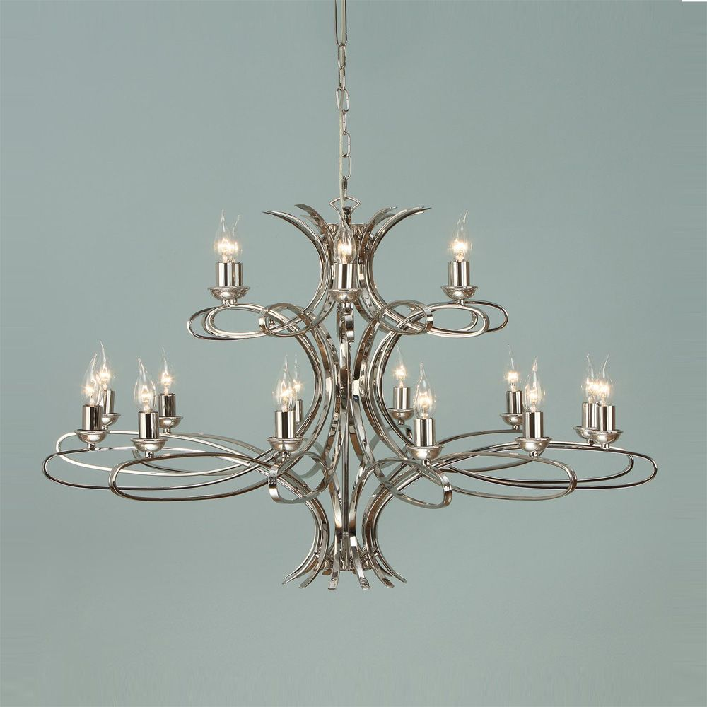 Interiors 1900 penn ca7p18n 18 light nickel chandelier luxury penn nickel 18 light chandelier interiors 1900 aloadofball Image collections