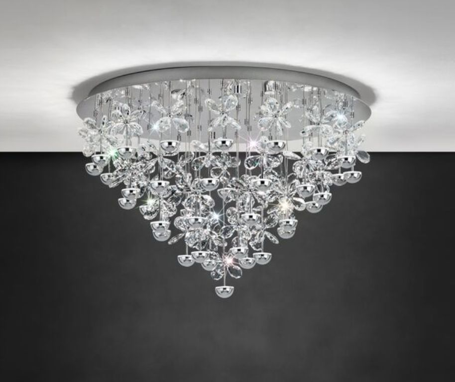 Eglo Pianopoli 39246 Crystal LED Flush Ceiling Light | Eglo Lighting | Luxury Lighting