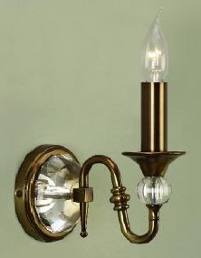 Polina Antique Brass Single Wall Light - Interiors 1900