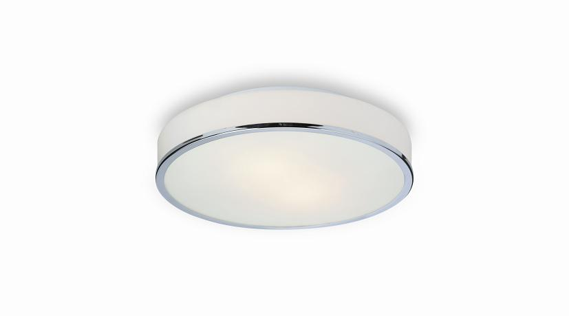 Firstlight Profile Round Flush Bathroom Ceiling Light