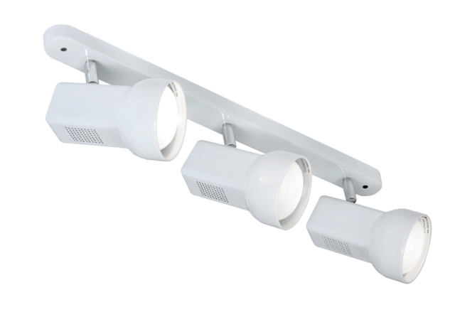 Oaks Quattro 63 White Three Spotlight Bar | 6330BWH | Oaks Lighting | Luxury Lighting