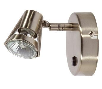 Romore Antique Chrome Switched Single Spotlight - Oaks Lighting
