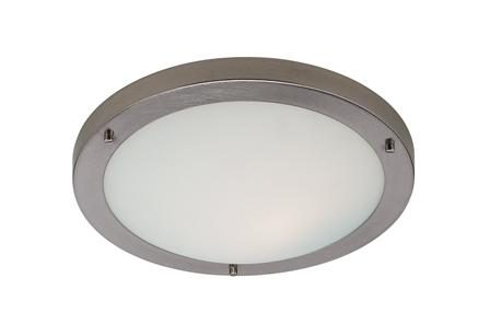 Rondo Brushed Steel Bathroom Ceiling Light - Firstlight Lighting