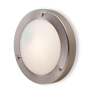 Rondo Brushed Steel Bathroom Wall Light - Firstlight Lighting