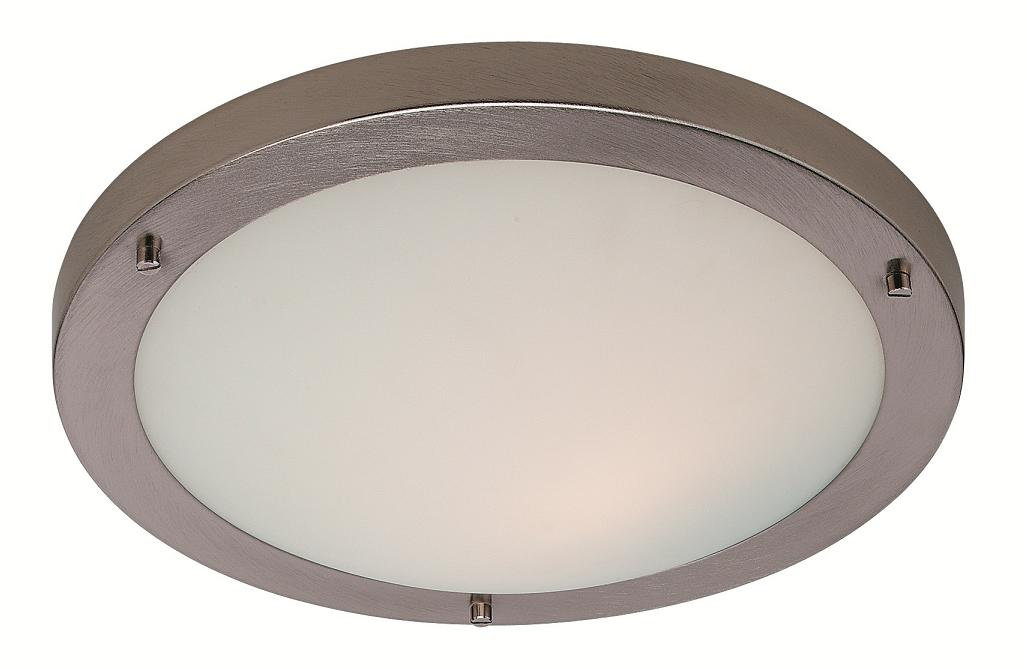 rondo brushed steel led bathroom ceiling light firstlight lighting