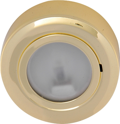 Round Under Cabinet Light Brass Crf02b Knightsbridge