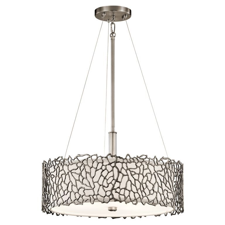 Elstead silver coral 3 light ceiling light pendant klsilcoralpa silver coral 3 light ceiling light pendant kichler lighting aloadofball Gallery