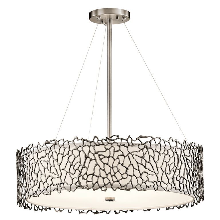 Silver coral 4 light ceiling light pendant kichler lighting