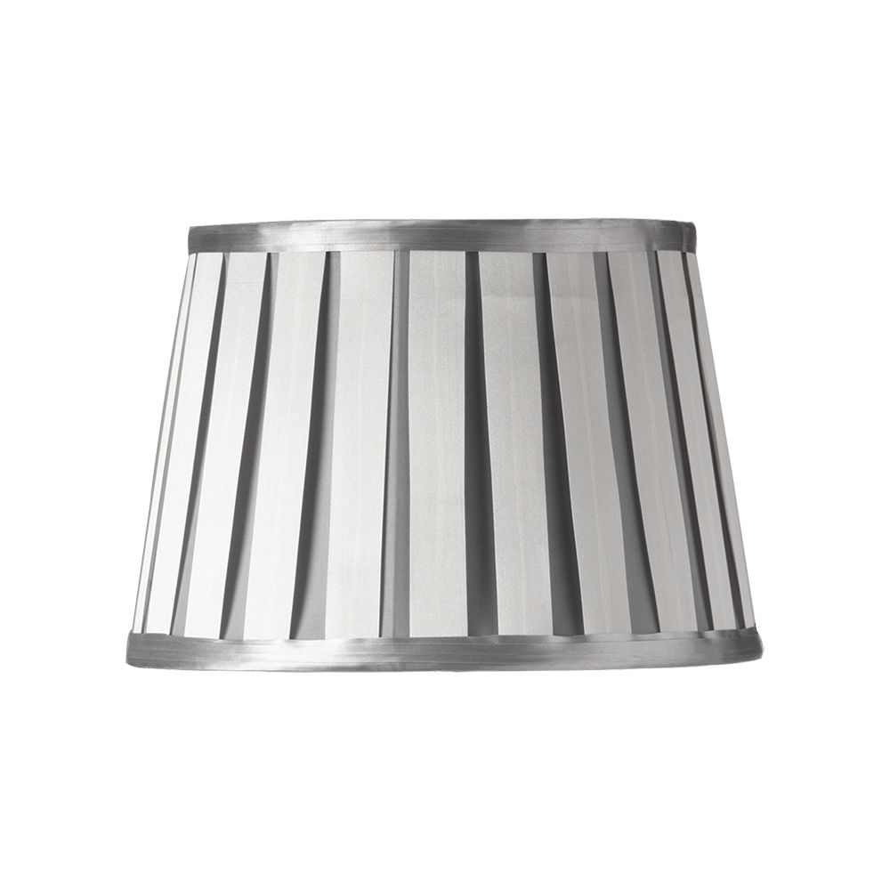 Oaks Soft Grey 12 Pleated Lamp Shade, Pleated Lamp Shades For Table Lamps Uk