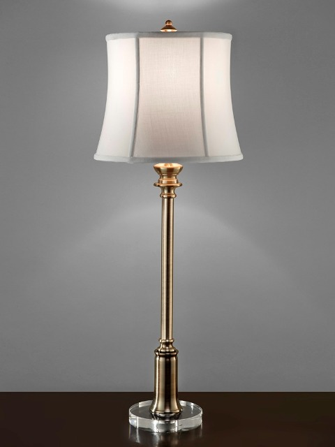 Stateroom buffet lamp brass feiss lighting
