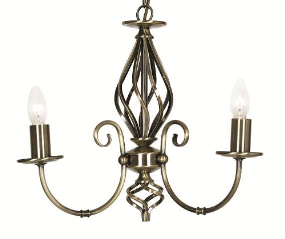 Oaks tuscany antique brass 3 light chandelier 3380 3 ab for Tuscany floor lamp antique brass