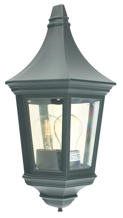 Elstead Valencia Flush Wall Lantern | V9 BLK | Norlys | Elstead Lighting | Luxury Lighting